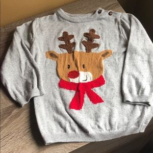 H&M reindeer sweater! 🎄 size 1 1/2-2